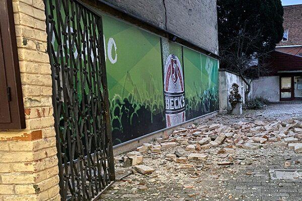عکسی از زلزله ۶ ریشتری کرواسی