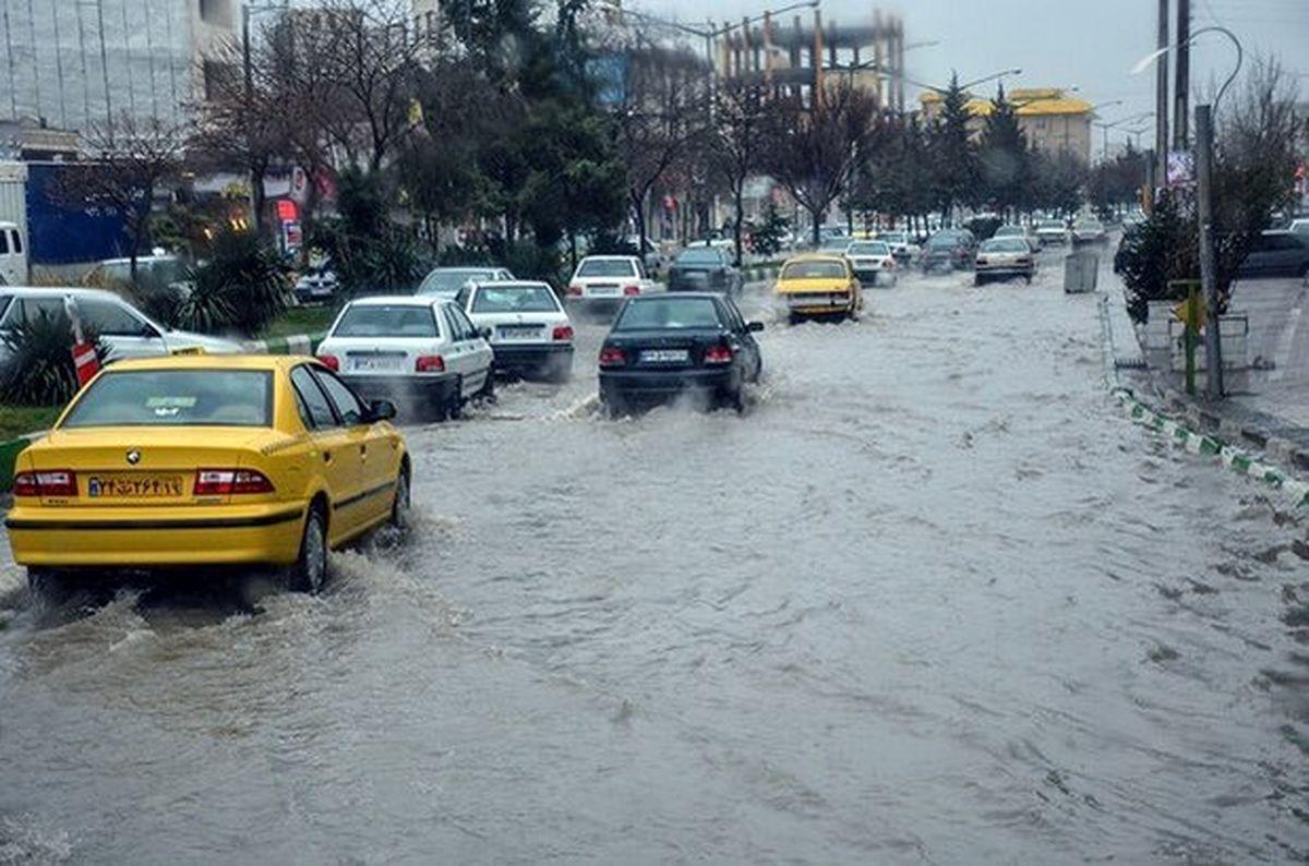 هواشناسی/ هشدار آبگرفتگی معابر ۱۳ استان
