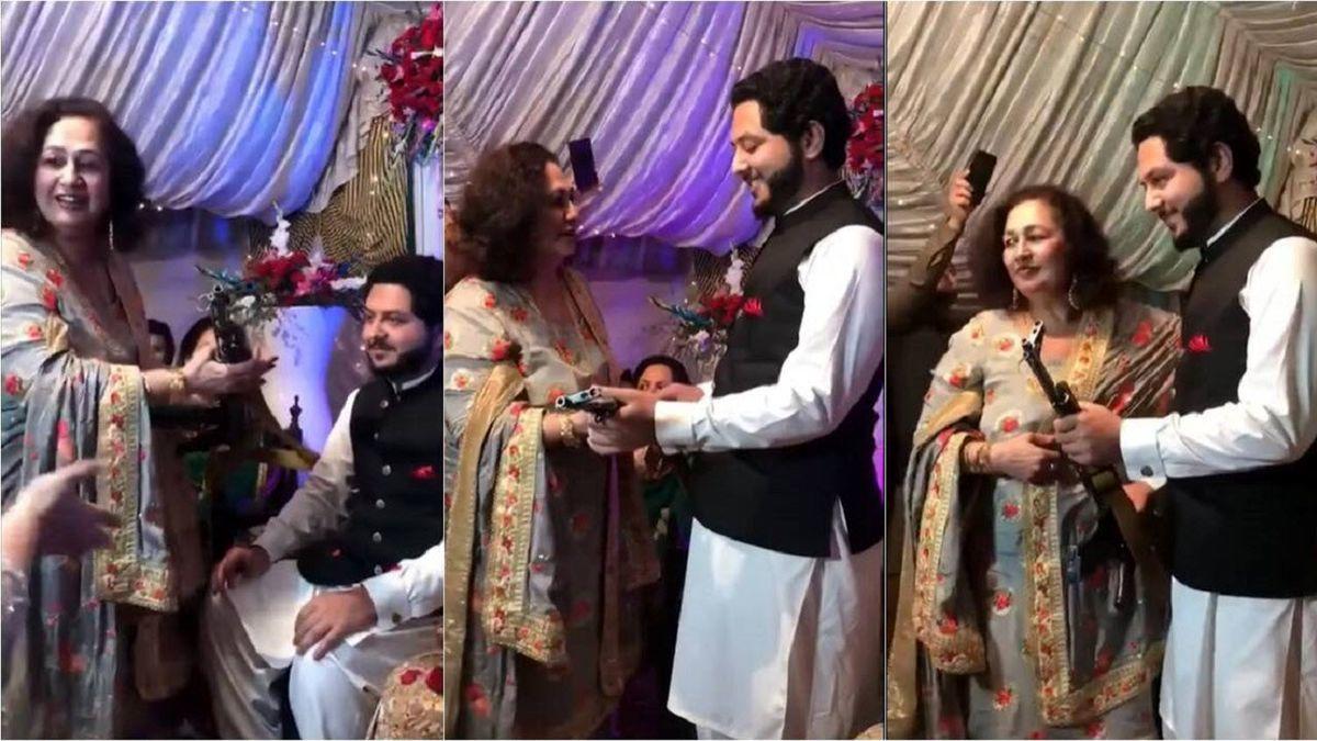هدیه مادر عروس به دامادش غوغا به پاکرد + عکس