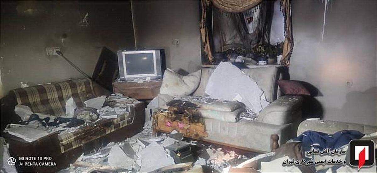زنده زنده سوختن یک مرد در خانه سرایداری در ولنجک + جزئیات