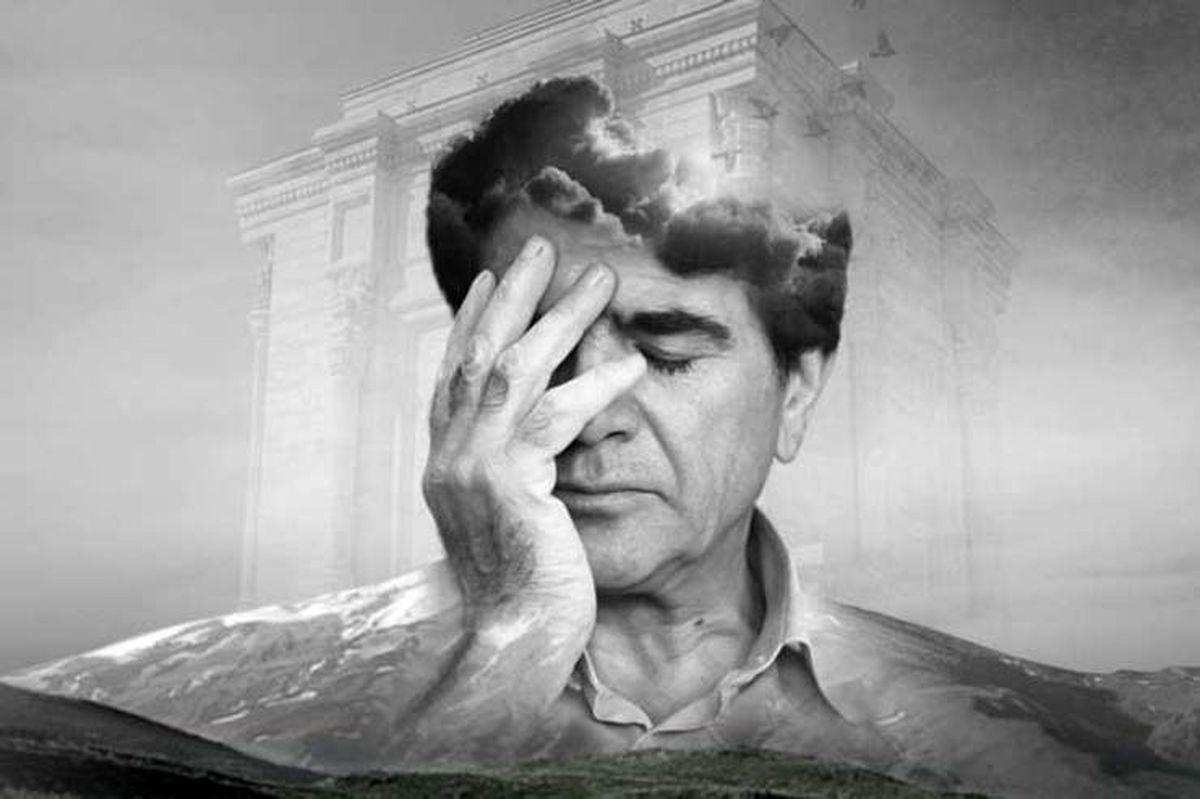 همایون شجریان از سنگ مزار پدرش رونمایی کرد + عکس